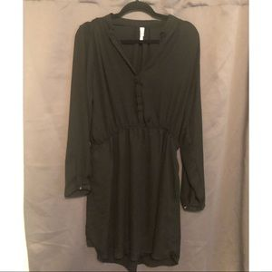 Xhilaration Long-sleeved Black Sheer Lined Dress